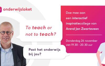 Online interactief inspiratiecollege